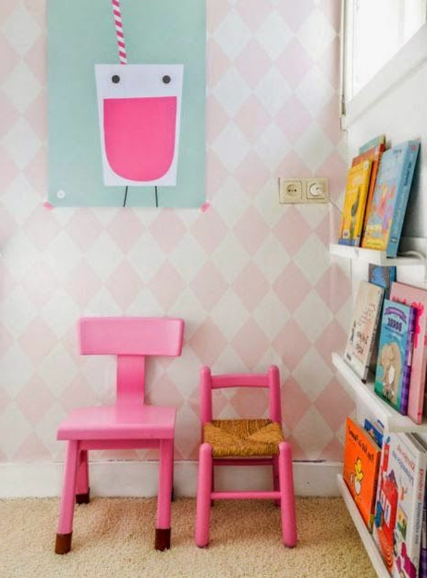 rosa-Kinderstühle-Ideen-Kinderzimmergestaltung