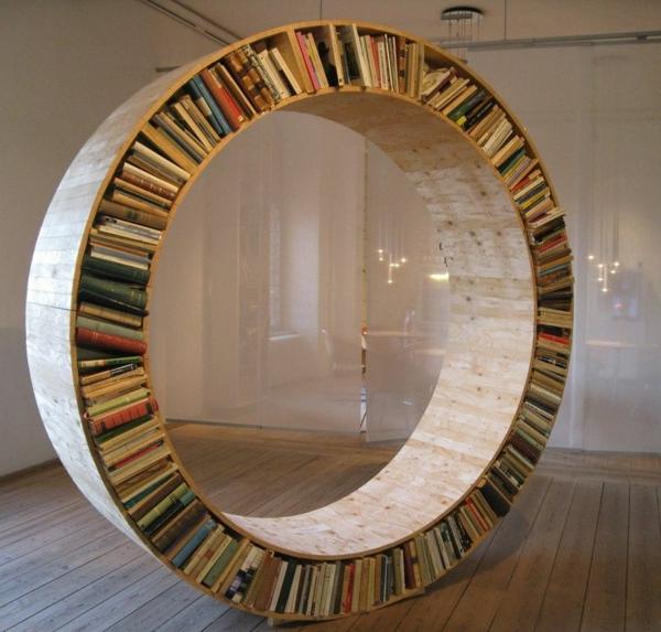 rundes-Regal-für-Bücher