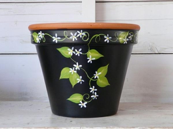 schön-dekorierte-Blumentöpfe-Malerei-Deko-Ideen