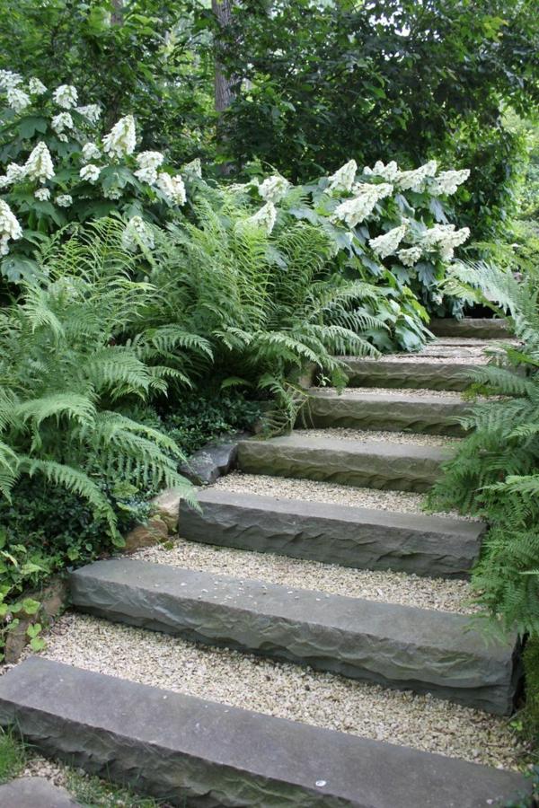 Gartentreppe 33 tolle gestaltungsideen for Gartengestaltung mit kies
