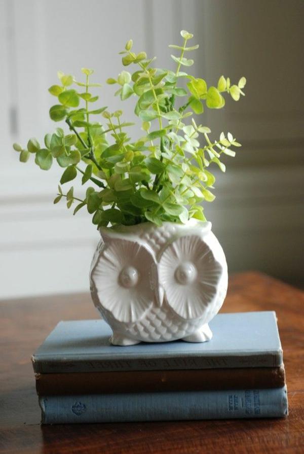 schöner-Blumentopf-in-Form-einer-Eule-Idee