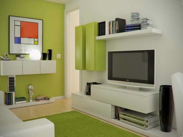 wohnzimmer ideen grün | Möbelideen