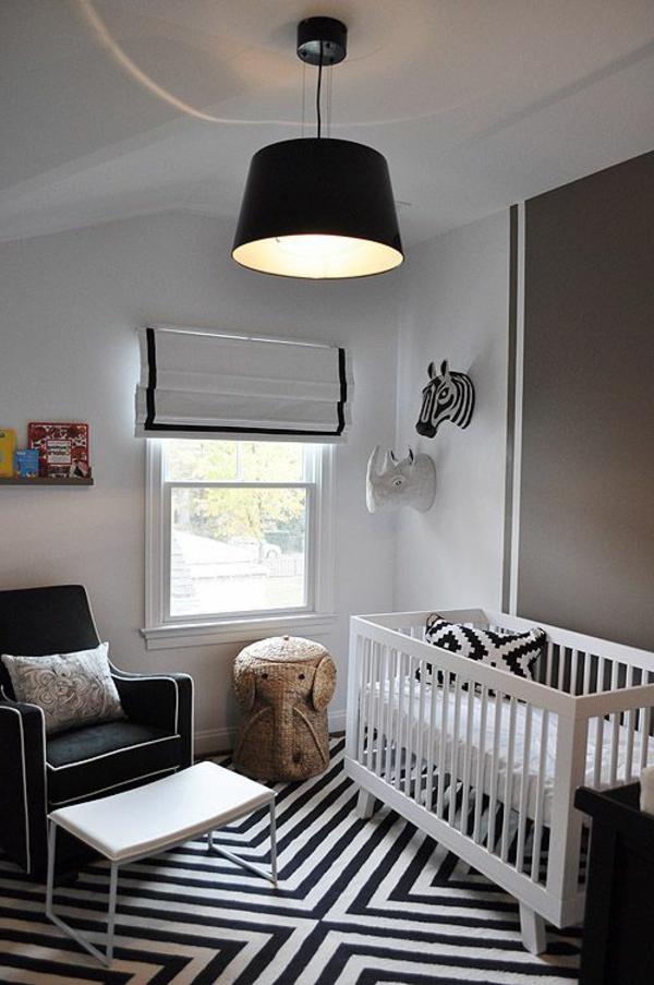 schöner-Teppich-in-Schwarz-Weiß-Kinderzimmer