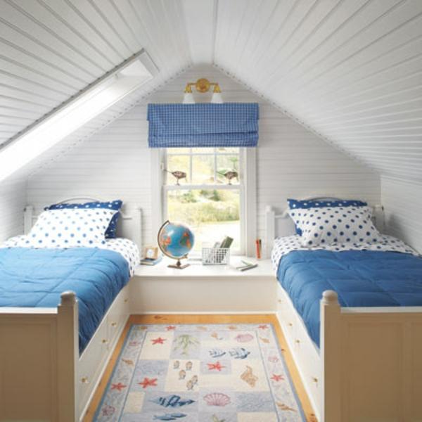 Schlafzimmer im dachgeschoss 25 coole designs for Weisses kinderzimmer
