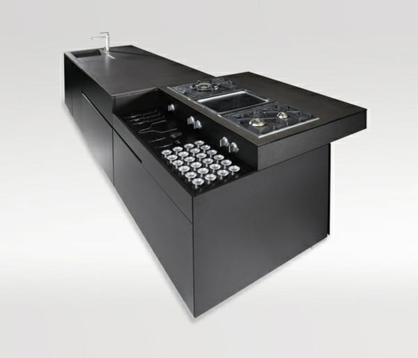 Die besten Kücheneinrichtungen - 35 super Vorschläge! - Archzine.net | {Moderne küchen mit insel an der wand 72}