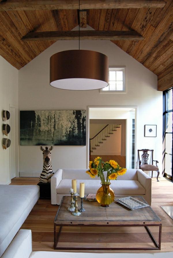 zimmerdecken ideen f rs wohnzimmer 53 prima fotos. Black Bedroom Furniture Sets. Home Design Ideas