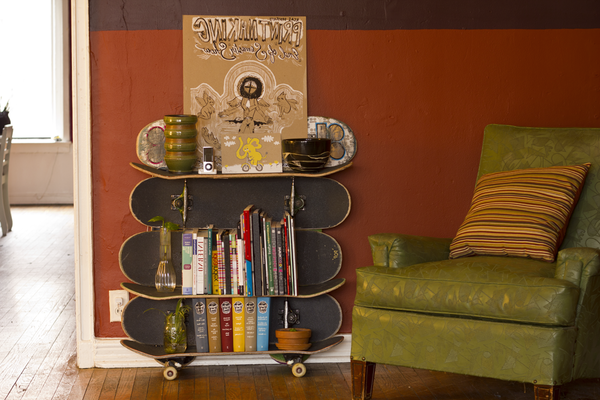 skateboard-bücherregal-design