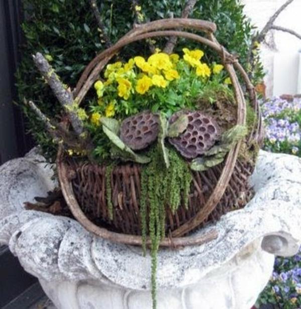 stiefmütterchen-pflanzen-wunderschöner-korb