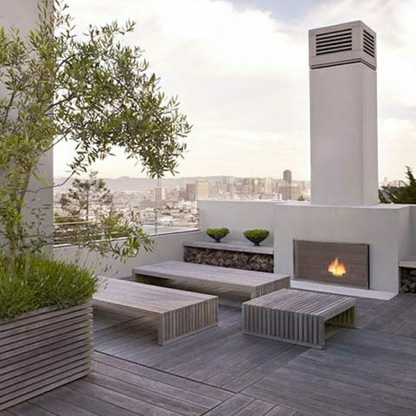stilvolle-Ideen-für-die-Dachterrasse-Holzboden