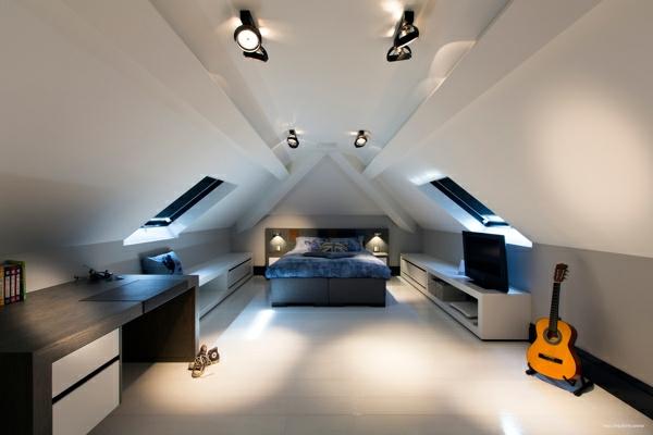 Schlafzimmer im Dachgeschoss - 25 coole Designs! - Archzine.net