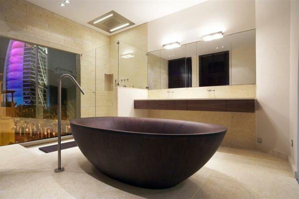 super-schöne-Holzbadewanne-Design