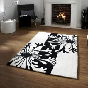 Teppich in Schwarz und Weiß - wunderbare Ideen