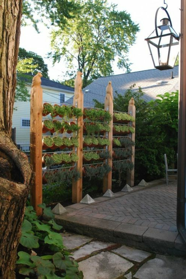 tolle-Gartenzaun-Ideen-Blumentöpfe-Exterior-Design