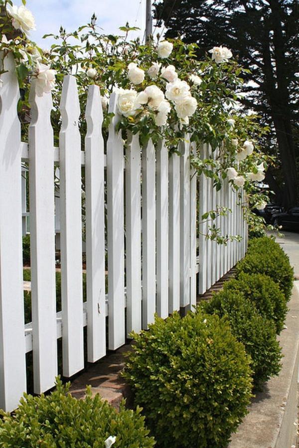 schöne ideen für einen gartenzaun aus holz in weiß! - archzine, Garten und Bauen