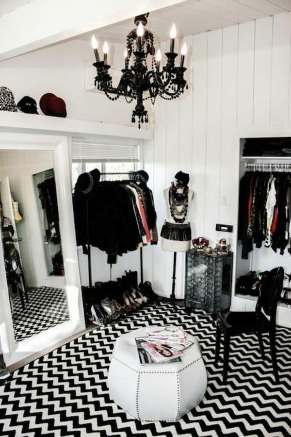 toller-Teppich -Schwarz-und-Weiß