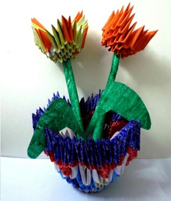 tulpen-basteln-sehr-originelle-idee - weißer hintergrund