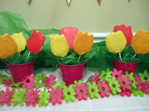 tulpen-basteln - bunte farben
