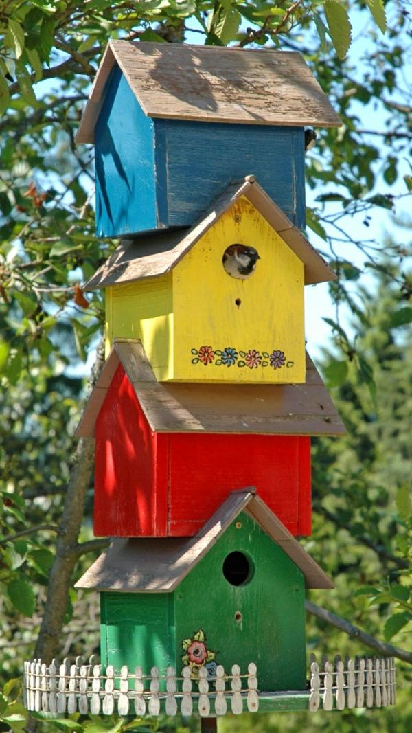 vogelhäuschen-Originelle-Garten-Dekoration