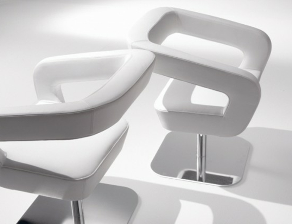 weiße-designer-Stühle-Leder