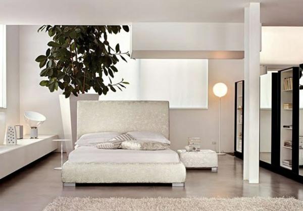 weiße-gestaltung-schlafzimmer-design-ideen
