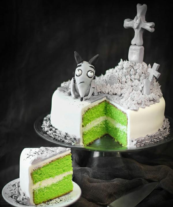 weiße-schreckliche-halloween-torten