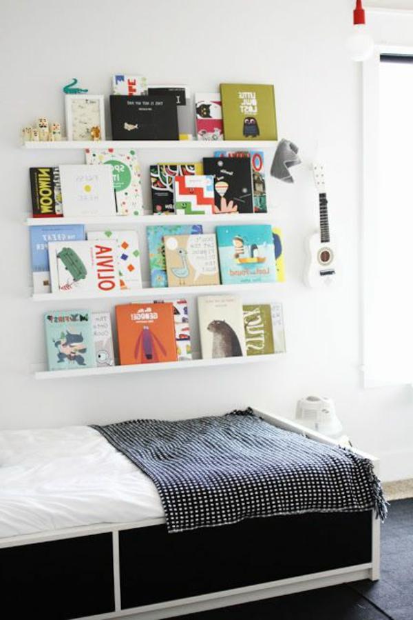 weißes-Regal-Kinderzimmer-Bücherregal