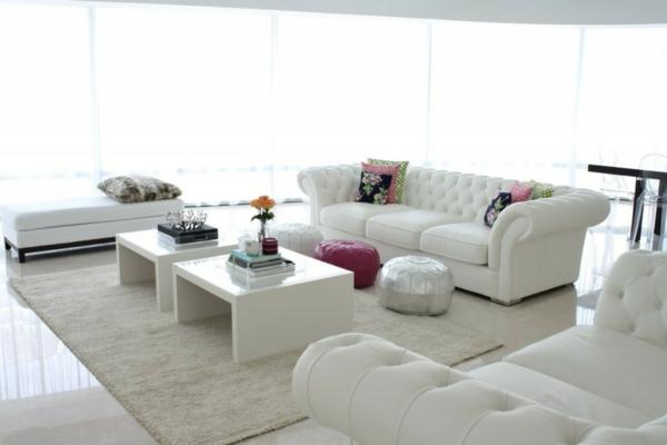 Teppich in Weiß  schick und stilvoll