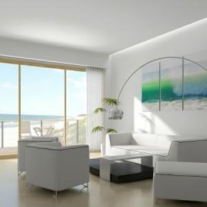 Wohnzimmer ideen modern weis  Wohnzimmer lila gestalten: 79 tolle Deko Ideen