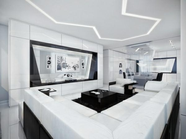 Wohnzimmer Weiß | Wohnzimmer In Weiss 33 Geniale Ideen Archzine Net