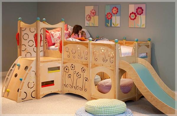 Kinderbett mit rutsche erstaunliche fotos for Bett 3 kinder