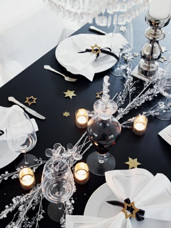 silvester tischdeko f r einen zauberhaften abend. Black Bedroom Furniture Sets. Home Design Ideas