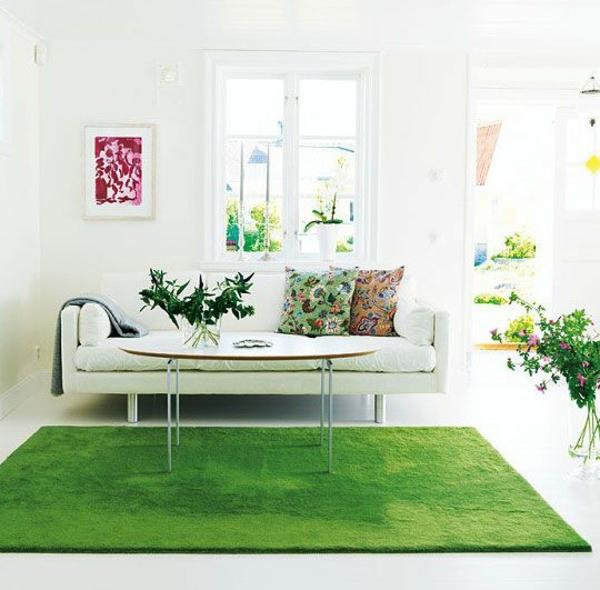 wunderschöner-Teppich-in-Grün-im-Wohnzimmer