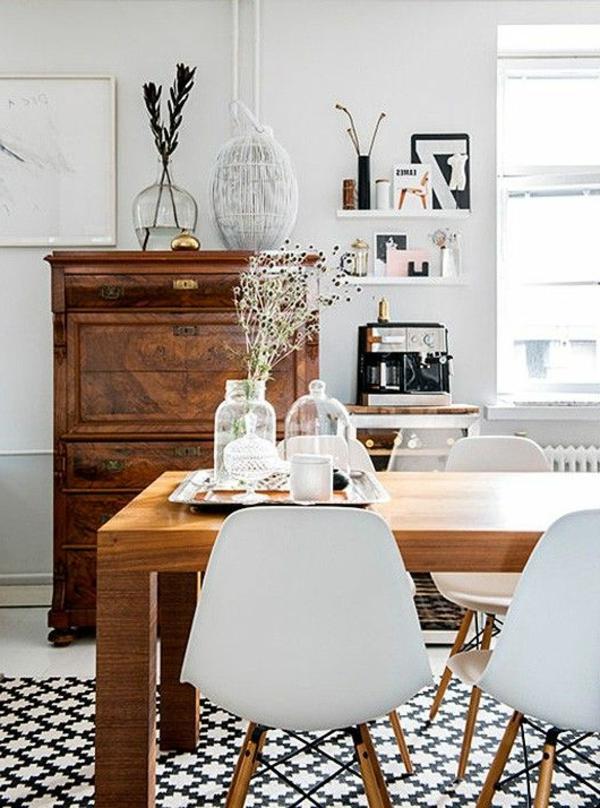 Teppich in Schwarz und Weiß  wunderbare Ideen