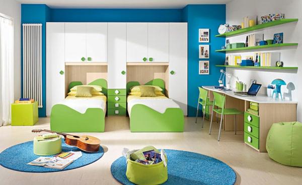 wundersbare-Kinderzimmer-Gestaltungsideen-Grün-und-Blau-Kombination