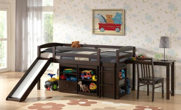 wunderschönes-Kinder-Bett-mit-Rutsche