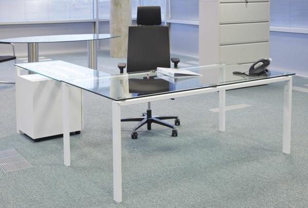 Eckschreibtisch glas  Schreibtisch aus Glas - wunderbare Ideen! - Archzine.net