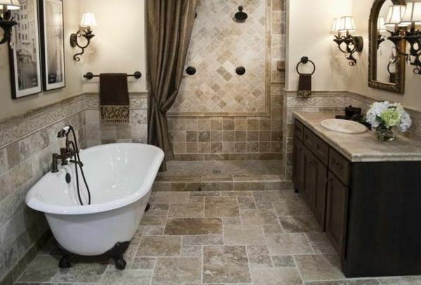 Badezimmer fliesen steinoptik  Fliesen Natursteinoptik Boden ~ Inspiration Design-Familie Traumhaus