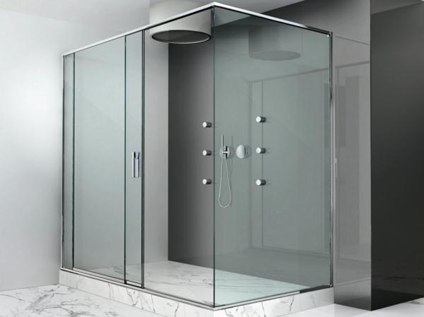 Duschkabine aus glas moderne beispiele for Badezimmer mit dusche idee