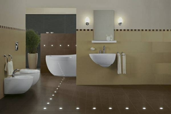 Badezimmer-Led-Bodenleuchten-Design-Ideen