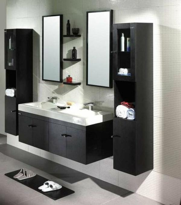 Badezimmer-in-Schwarz-Badezimmer-mit-Hochschrank-Design-