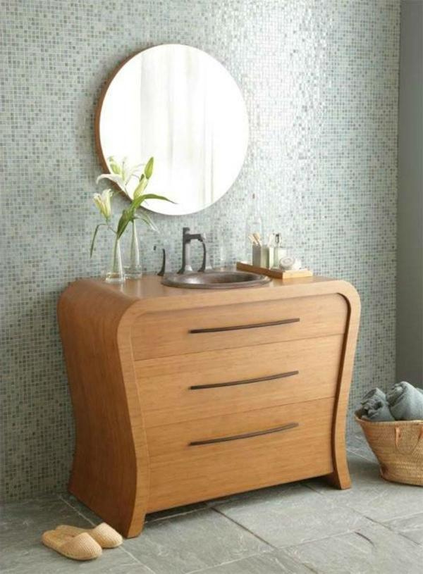 Badezimmer Unterschrank Bambus