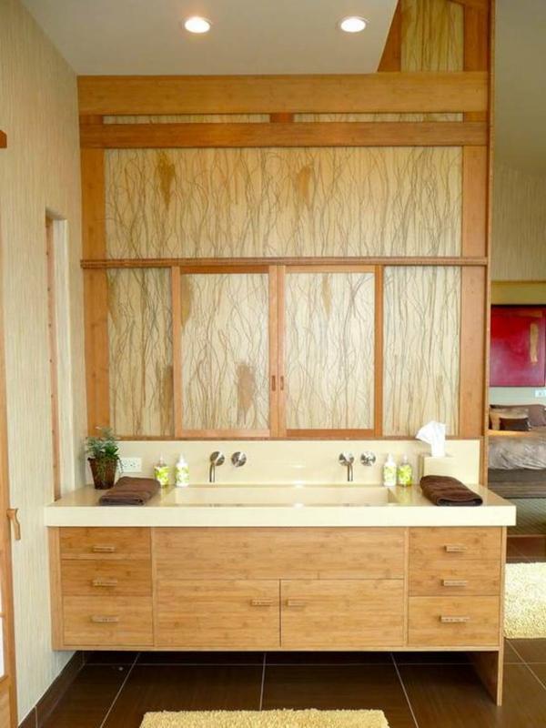 Badezimmer-mit-Bambus-Unterschränke-Bambus-Waschbeckenunterschränke