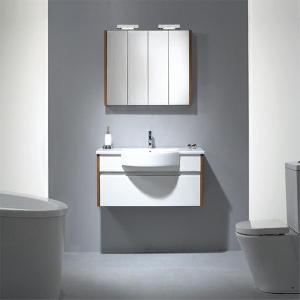 Spiegelschrank Beleuchtung Badezimmer : BadgestaltungSpiegelschrankmitBeleuchtungimBadezimmer