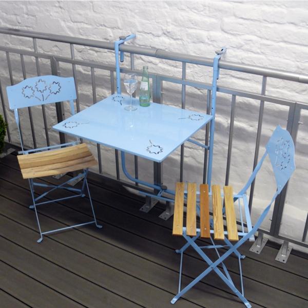 Balkonset-Hängetisch-für-den-Balkon-Blau