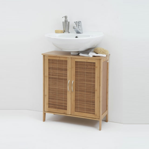 Waschbeckenunterschrank aus Bambus! - Archzine.net