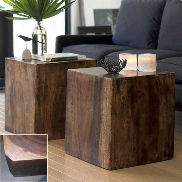 Beistelltische Holz : beistelltisch aus holz fantastische modelle ~ Pilothousefishingboats.com Haus und Dekorationen