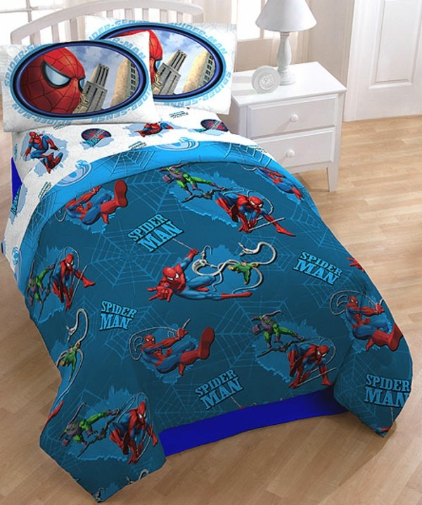 super.Bettwäsche-Spiderman-Kinderzimmer-Spiderman Bettwäsche--Superhero- Movie-Bettwäsche