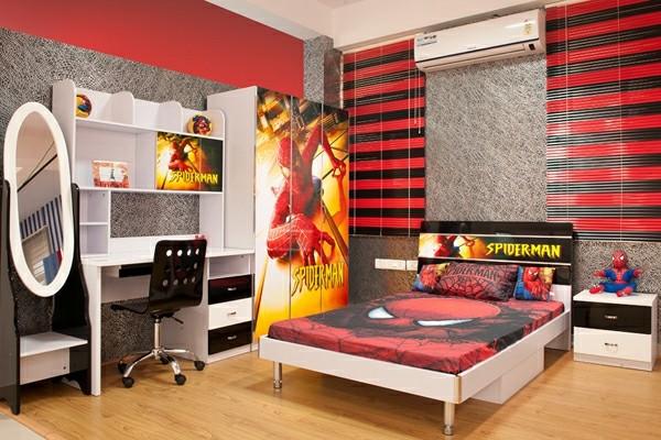 Bettwäsche-Spiderman-Schlafzimmer-Ideen--Superhero- Movie-Bettwäsche
