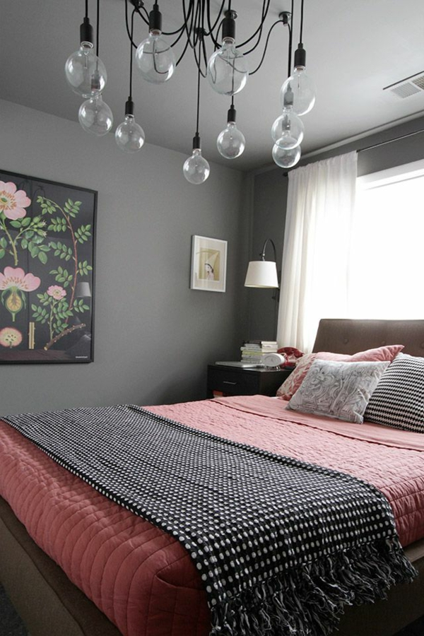 schlafzimmer braun grau rosa. Black Bedroom Furniture Sets. Home Design Ideas
