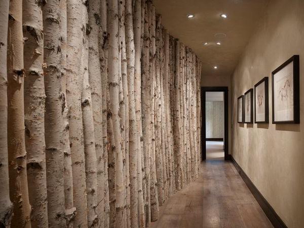 Fantastische birkenstamm deko for Wanddeko bambus